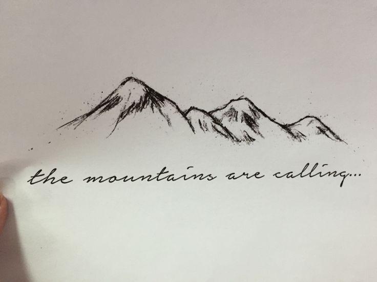 Mountain range tattoo