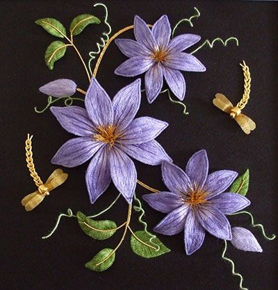 Alison Cole Embroidery Rambling Clematis