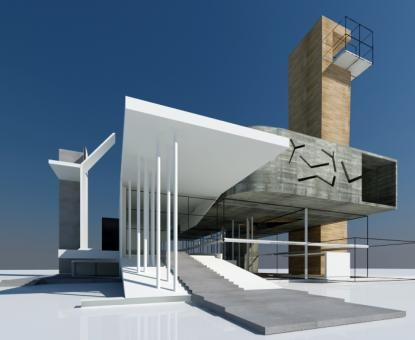 17 best images about cantilever building on pinterest for Church exterior design