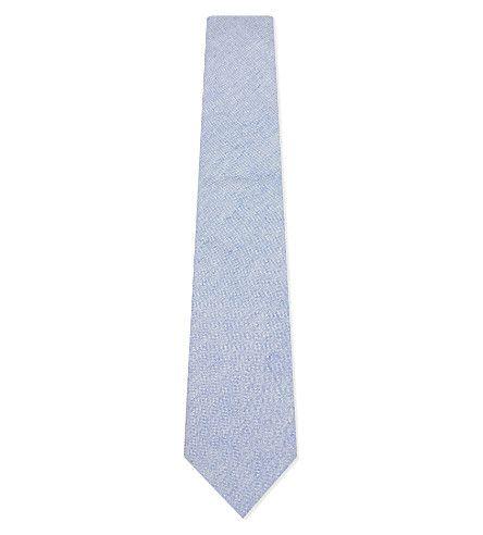 HARDY AMIES Slub Cotton-Linen Tie. #hardyamies #ties