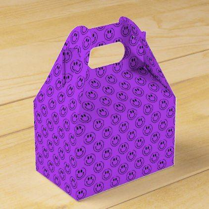 Purple Emoji Smiley Faces Favor Box - craft supplies diy custom design supply special