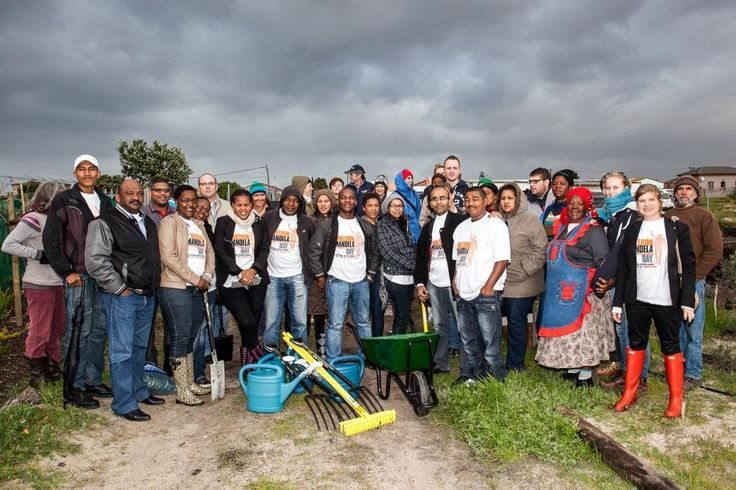 CTICC helps with the gardening at Harvest of Hope in Khayelitsha for Mandela Day. Picture: @CTICC_Official