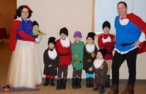 Snow White & the 7 Dwarfs and Prince Charming - 2013 Halloween Costume Contest via @costumeworks
