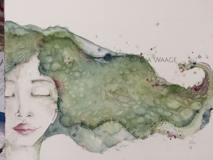 Watercolor om hotpress paper by Anja Waage