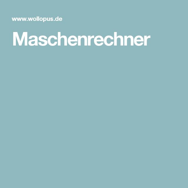 Maschenrechner