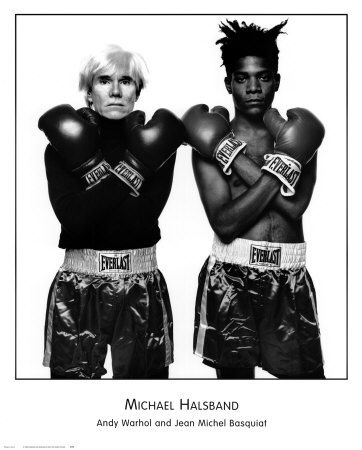 Andy Warhol and Jean Michel Basquiat by Michael Halsband.