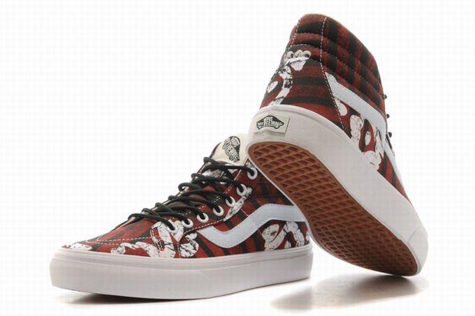 71b247b6a3 Vans SK8-Hi Picasso Dark Red Womens Shoes  Vans