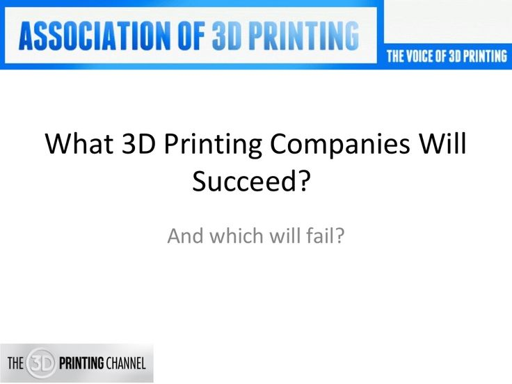 3D Printing Companies - Which 3D Printing Firms Will Succeed? by Bill Decker via slideshare https://www.linkedin.com/pulse/which-3d-printing-firms-succeed-fail-bill-decker?trk=prof-post
