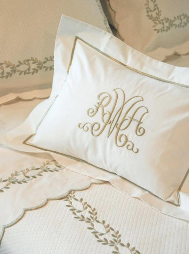 Bedding And Linens Part - 18: Camilla Custom Embroidered Bed Linens By Hamburg House - I Am So Obsessed  With These And
