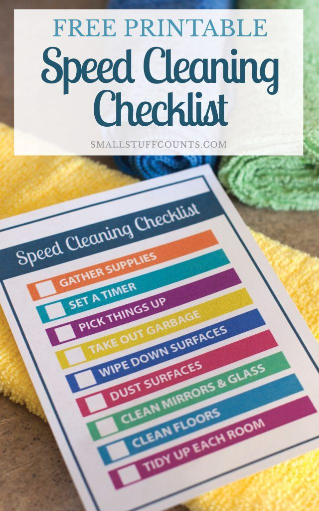 Speed Cleaning Tips For Cleaning Your Entire House In Less Than 30 Minutes Speed Cleaning Cleaning Hacks Cleaning Printable