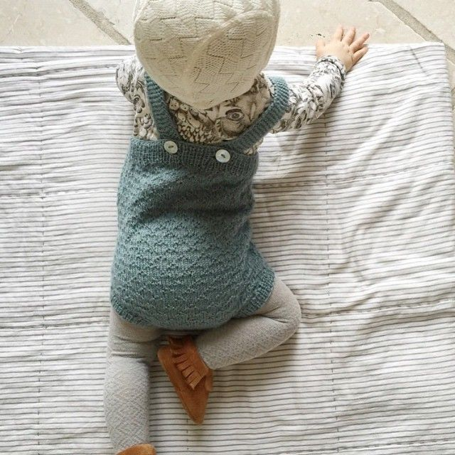 Look at this combo from By @seerupen . This is the first knitted romper design we ever made. Completely in love with the choice of colours, moccs and Soft Gallery...