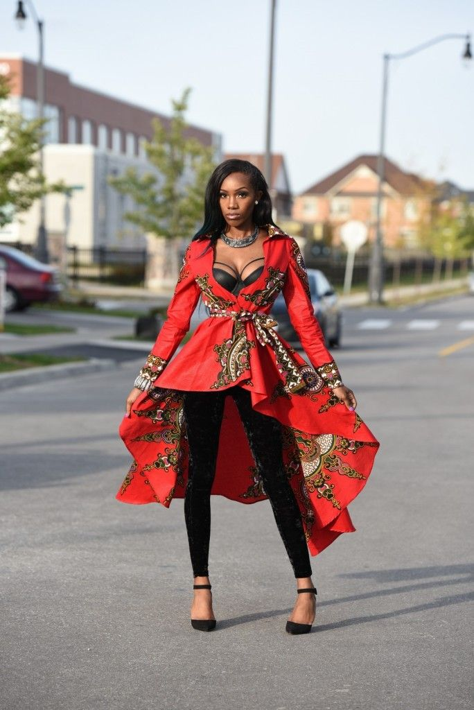 African Fashion | Rahyma Java Jacket | $180.00  Limited Quantity. African print Royal Jacket with belt closure Full A-line silluete High low dress jacket ,can fit into any occasion. model Is 5.8 tall