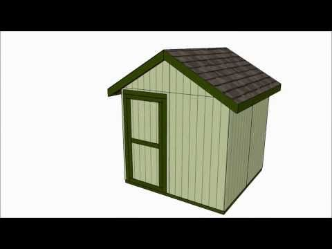 8x8 shed plans free outdoor plans diy shed wooden for Playhouse with garage plans