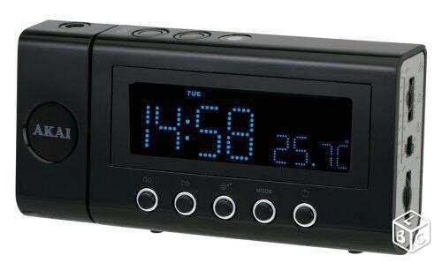 Magnifique radio-réveil rétroprojecteur 20€$