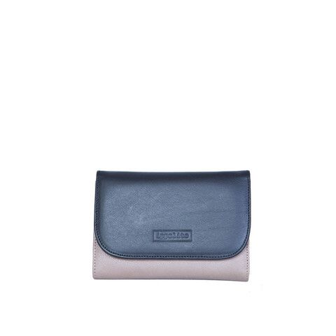 Rawan Wallet in Taupe, Black & Aubergine (Interior)