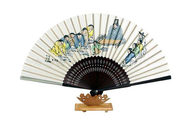 Traditional Folding Fan - Seodang( Korean Village School)