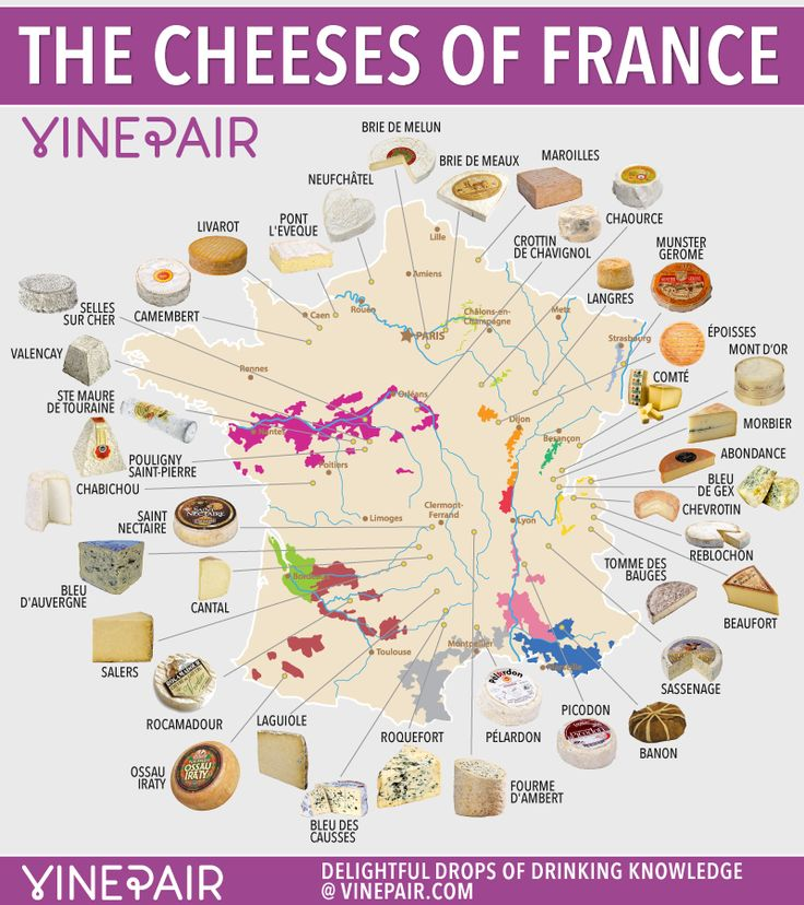 Cheese is one of the most magical and delicious creations to ever grace this earth. Not only is it incredible on its own, when combined with wine, it's orgasmic. And nowhere produces more delicious, iconic cheese than France. So here's your official guide to the cheeses of France. Get to know them, dig in, and then go grab a bottle of vino.