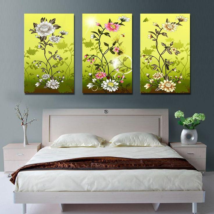 Нежный хорошо цветы , напечатанные на холсте стены искусства для гостиной украшения для друзей подарок
