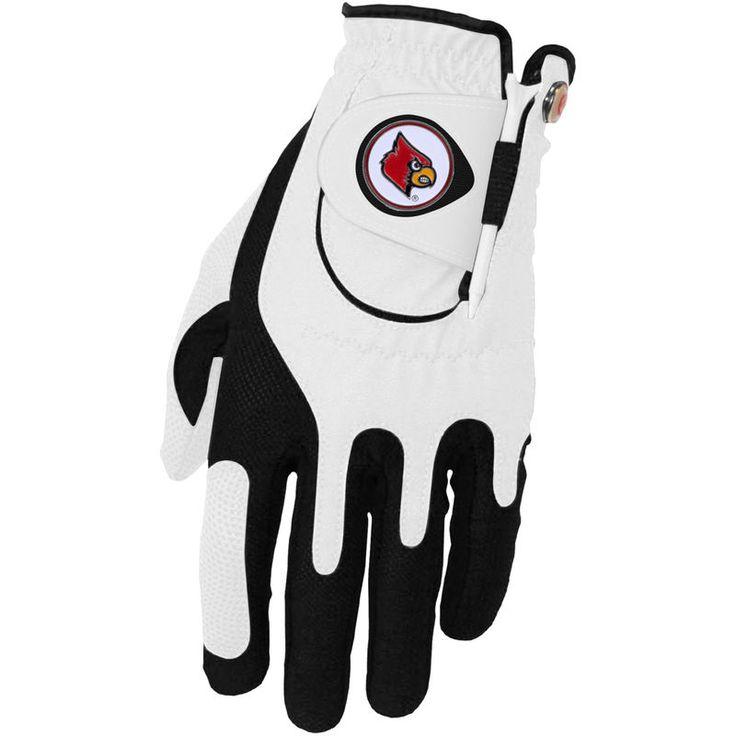 Louisville Cardinals Left Hand Golf Glove & Ball Marker Set - White