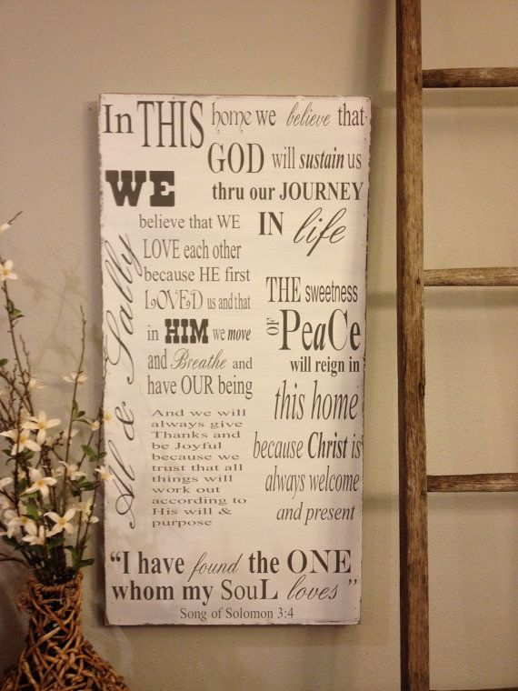 wood signs with sayings | Personalized Wood Sign - extra large - 18x36 - great wedding gift ...