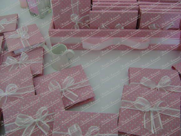 Bloquinho de Anotações Poá Rosa  / Lápis
