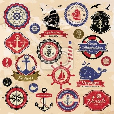 Vintage nautical labels