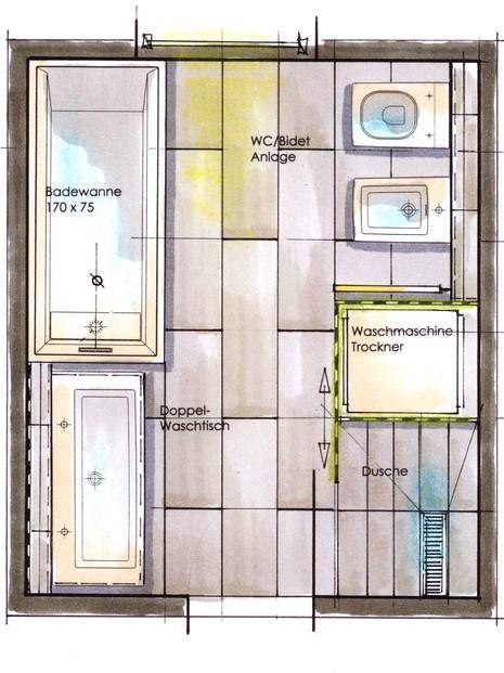 kleine Bäder, Waschmaschine, Grundriss, Foto badraumwunderde - kleines badezimmer neu gestalten
