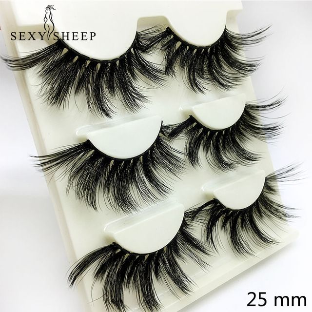 Beauty Essentials Sexysheep 3pairs 25mm 3d False Eyelashes Fake Lashes Long Makeup 3d Mink Lashes Eyelash Extension Mink Eyelashes Beauty Makeup Reasonable Price