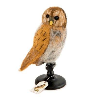 Felt Bird Taxidermy Tawny Owl