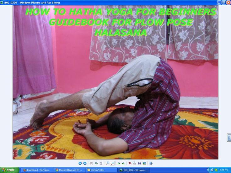 How to Hatha Yoga for Beginners Guidebook for Plow Pose Halasana