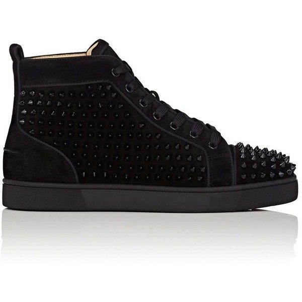 Christian Louboutin Men S Louis Orlato Flat Suede Sneakers 1 295 Liked On Polyvore Featuring Christian Louboutin Men Men S High Top Sneakers Sneakers Men