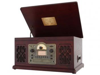 Vitrola CTX Bravo CD Player Fita Cassete - com Sistema HI-FI Entrada USB e SD…