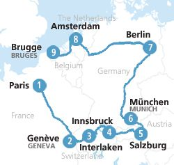 Planning to travel Western Europe by rail? We present our #Eurail Western Europe Itinerary route