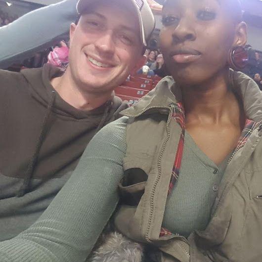 Skyler Stoddard -ad a blast at the Utah Grizzlies game! It was @girldjango first hockey game and she had a lot of fun. #hockey #hockeygame #utahgrizzlies #utahgrizzlieshockey #utah #utahlife #utahliving #datenight #interraciallove #interracialcouple #fiance #engaged #Love #WhiteMenBlackWomen #BlackWomenWhiteMen #WMBW #BWWM #interracialdating #interracialmatch #interracialrelationships #interracial #interracialdatingsites