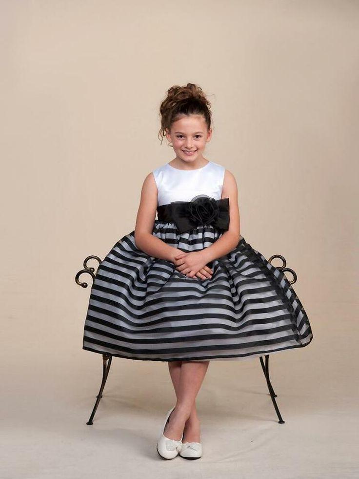 Little girls black and white dresses — 5