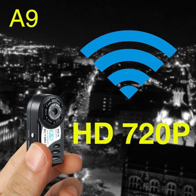 Mikro infračervená nočná viditeľnosť Bezdrôtový fotoaparát Veľmi malý nenápadný HD Mini WI-FI Cam vzdialený bezpečnostný alarm