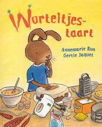Worteltjestaart / Annemarie Bon; Gertie Jaquet   Haas heeft geweldig veel zin in worteltjestaart. Hij gaat gauw naar de bakker, maar die heeft alleen andere taarten. Haas gaat aan de slag, maar zelf worteltjestaart bakken is nog niet zo makkelijk.