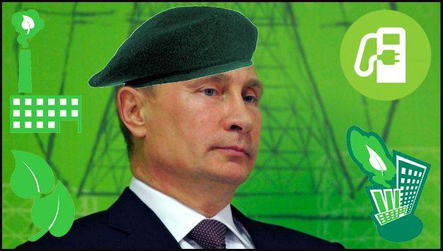 Putin Has Gone All Green & Fuzzy!...   #Russia #Putin #Green #ElectricCar #EV #ChargingStation