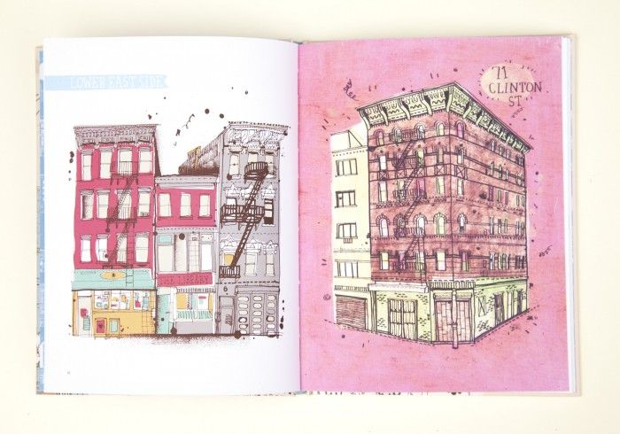"""""""All the Buildings* in New York *that I've drawn so far"""" book by James Gulliver Hancock"""