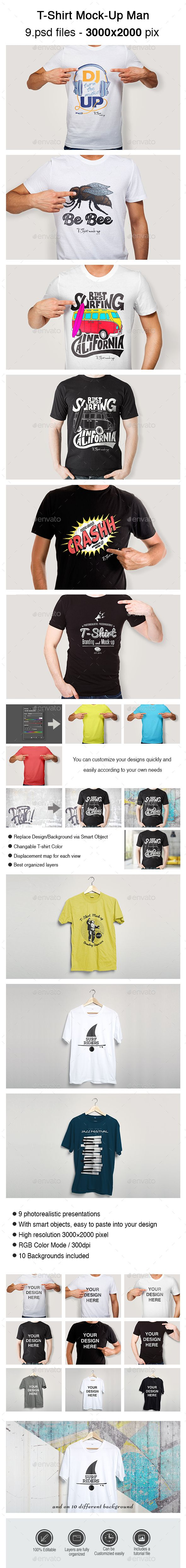 Design your own t shirt free download - T Shirt Mock Up Man Design Download Http Graphicriver