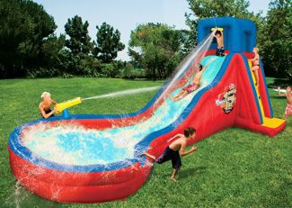 Inflatable Water Slides: Banzai Double Cannon Blast Inflatable Water Slide Review