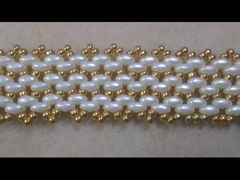 IVORY BRACELET WHITH SUPER DUO ~ Seed Bead Tutorials