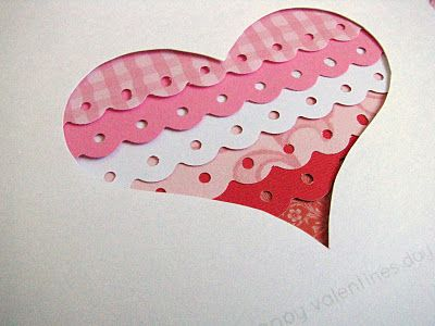 Border Punch Cards, Punch Ideas, Cards Ideas, Heart Border Punch, Valentine Day Cards, Yellow Mums, Valentine Cards, Scrapbook Pages, Heart Cards