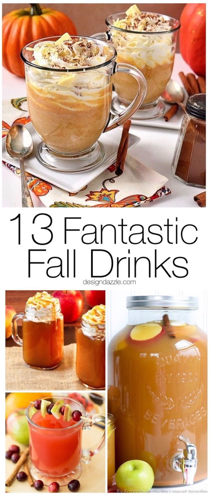 Crisp apples, ripe cranberries and plenty of pumpkin spice go into making these 13 fantastic fall drinks to give you something to look forward to this fall! | fall inspired drink recipes | drink recipes for fall | fall beverages | pumpkin flavored drink r