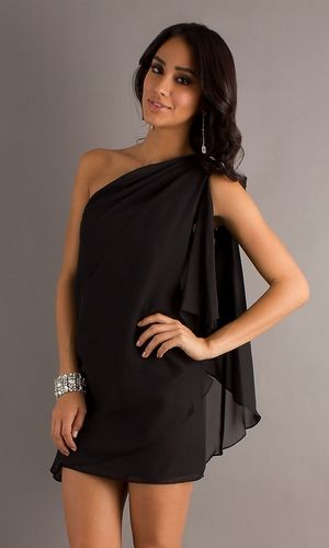 1000  images about Black Chiffon Dress on Pinterest