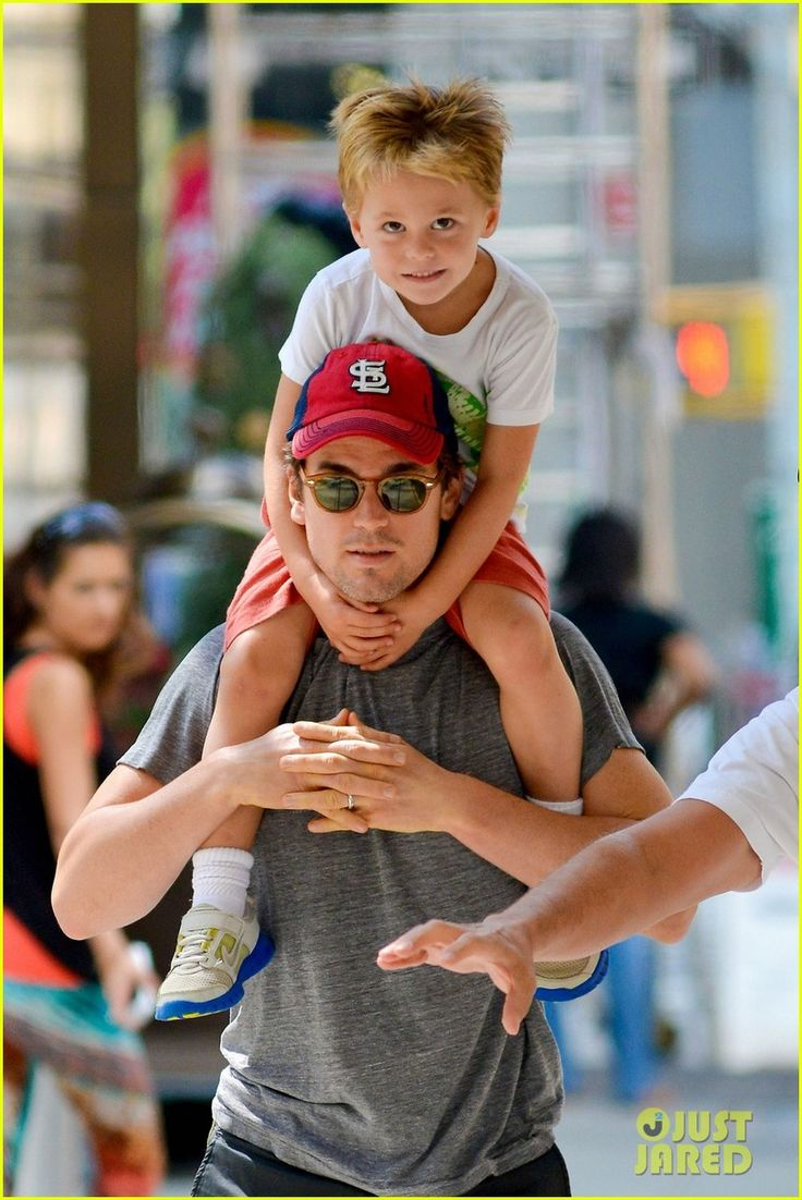 Matt Bomer with one of his kids