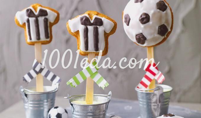 Футбольные кейк-попсы с эспрессо