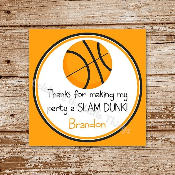 thank you for making my party a slam dunk