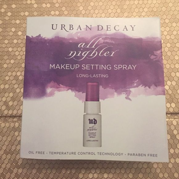 NWT urban decay all nighter Long lasting makeup setting spray Urban Decay Makeup