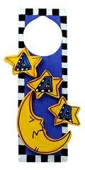 Tri Delta Crescent moon and stars door hanger. So freaking cute!